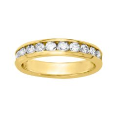Certified Diamond Anniversary Bands In Gold