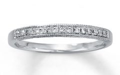 Diamond and Milgrain Anniversary Bands in 10k White Gold