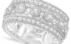 Diamond Vintage-style Anniversary Bands in Gold