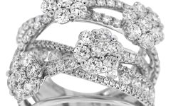Diamond Layered Crossover Bands In 18K White Gold