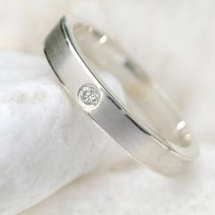 Diamond Anniversary Bands In Sterling Silver