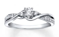 White Gold and Diamond Engagement Rings