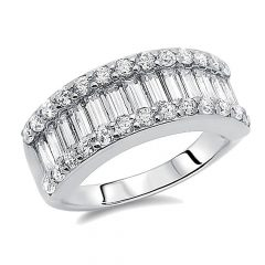 Anniversary Rings With Baguettes