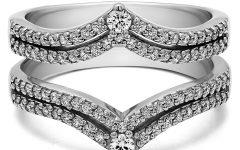 Chevron Style Diamond Rings