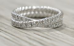 Diamond Double Row Anniversary Bands in White Gold