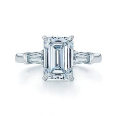 Emerald Cut Engagement Rings Baguettes