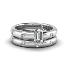 Flush Set Diamond Wedding Bands