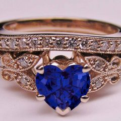 Blue Heart Engagement Rings