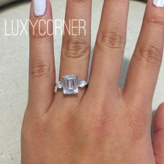 3 Ct Emerald Cut Engagement Rings