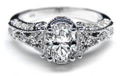 Vintage Style Diamond Anniversary Rings