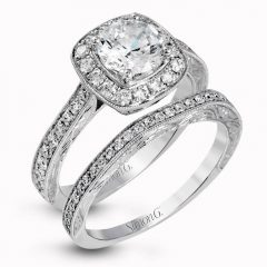 Engagement Rings With Wedding Band Set