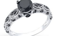 Wedding Rings with Black Diamonds