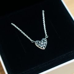 Ice Crystal Heart Collier Necklaces