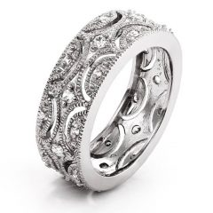 Wide Wedding Bands For Her