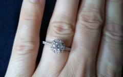 Round Sparkle Halo Rings