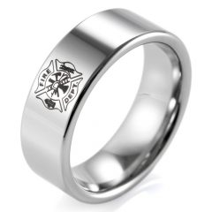 Men's Firefighter Wedding Bands