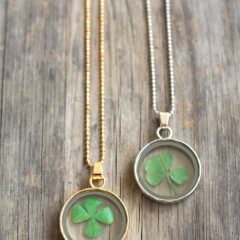 Lucky Four-Leaf Clover Dangle Charm Necklaces