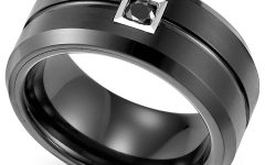 Black Tungsten Wedding Bands With Diamonds