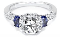 Diamond and Sapphire Rings Engagement Rings