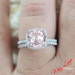 Light Pink Wedding Rings