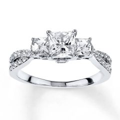 14K Princess Cut Engagement Rings