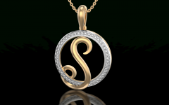 Letter S Alphabet Locket Element Necklaces