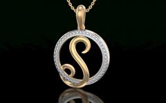 Letter S Alphabet Locket Element Necklaces
