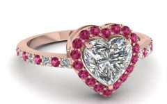 Pink Diamond White Gold Engagement Rings