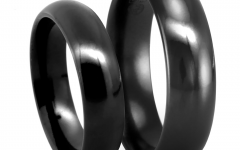 Black Titanium Wedding Bands Sets