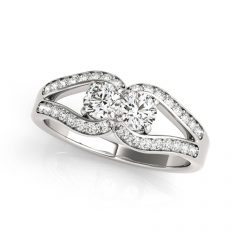 Horseshoe Diamond Engagement Rings
