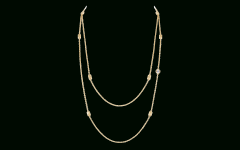 Yellow Gold Diamond Sautoir Necklaces