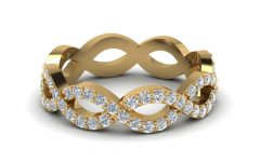 Diamond Eternity Anniversary Vintage-style Bands in White Gold