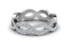 Diamond Eternity Anniversary Bands in White Gold