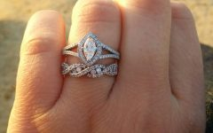 Infinity Wedding Band and Engagement Rings