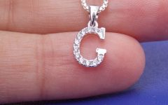 Letter G Alphabet Locket Element Necklaces