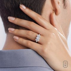 Pear-Shaped Cluster Diamond Engagement Rings