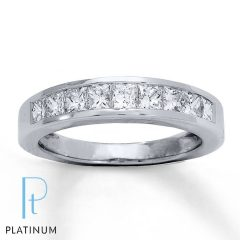 Platinum Diamond Anniversary Rings
