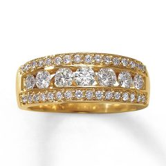Gold Diamond Anniversary Rings