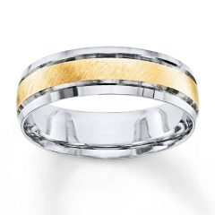 Mens 2 Tone Wedding Bands