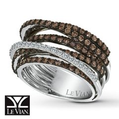 Chocolate Diamond Anniversary Rings