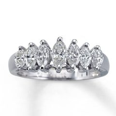 Marquise Cut Diamond Anniversary Rings