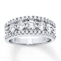 2 Carat Diamond Anniversary Rings
