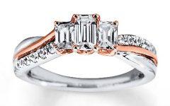 Emerald Cut Diamond Anniversary Rings