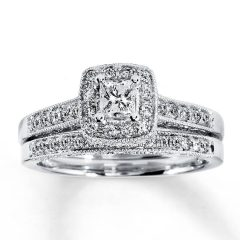 Princess Cut Diamond Wedding Rings Sets