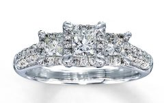 Princess Cut Diamond Wedding Rings