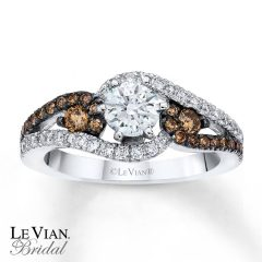 Chocolate Diamonds Wedding Rings