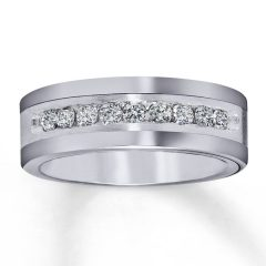 Tungsten Diamond Wedding Rings