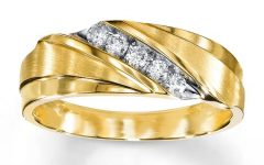 Men's Yellow Gold Wedding Bands With Diamonds