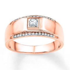 Rose Gold Male Wedding Bands