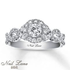 14K White Gold Engagement Rings
